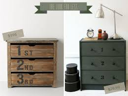 I fell in love with the before and after project I saw on Ikea's blog in  which a designer took the Rast chest of drawers that retails for $29.99 and  made it ...
