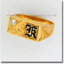 hawaiian mens rectangle ring hawaii gold jewelry