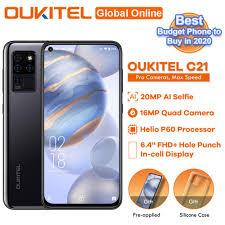 <b>OUKITEL C21</b> 4+64GB Phone Helio P60 Quad Camera 20MP Selfie ...