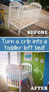easy diy furniture ideas. Repurpose That Old Crib And Easily Turn It Into A Toddler Bed! -- Easy Diy Furniture Ideas