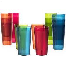 stackable plastic glasses