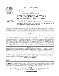 Correctional Officer Job Description Resume Resume For Juvenile Detention Officer httpwwwresumecareer 9