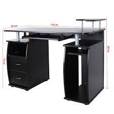 Scrivania tavolo per computer ufficio porta pc ripiani tastiera