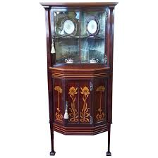 corner display cabinet glass curio art for light oak effect free plans hardware sliding door track
