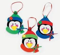Image is loading 3-Penguin-Foam-Ornaments-Craft-Kit-Christmas-Gift-