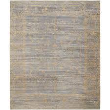 safavieh valencia samara gray gold indoor distressed area rug common 8 x 10