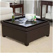 Living Room Ottoman With Storage Furniture Concealed Storage Space Dandridge Leather Tray Storage