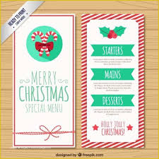 Free Printable Holiday Menu Template Of Christmas Menu