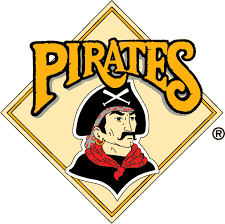 Pittsburgh Pirates Primary Logo (1987) - A pirate inside a yellow ...