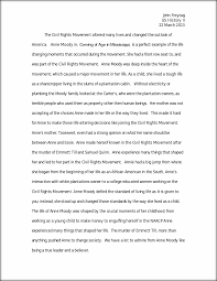 history essay coming of age in mississippi john freytag us this preview has intentionally blurred sections sign up to view the full version
