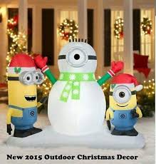 Blow Up Christmas Decorations Inflatables Outdoor Minion Lighted ...