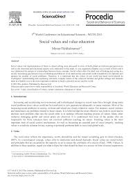 Social Values And Value Education Topic Of Research Paper
