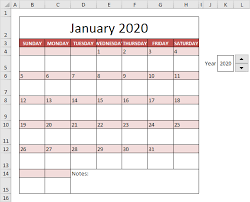 Calendar Sample Design New Calendar Template In Excel Easy Excel Tutorial