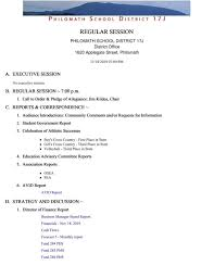 Philomath School Board Meeting Agenda Nov 18 2019