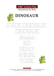 Kids ABC Letter Tracing Worksheets Dinosaur | ABC Letters Org