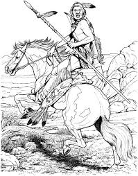 Small Picture Native American Designs Coloring Pages Native American on Horse
