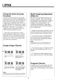 Pdf Manual For Yamaha Music Keyboard Pss 16