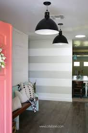 Nice DIY Striped Accent Wall | I Love This Gray And White Striped Wall, Such An