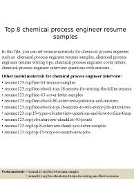 Chemical Process Engineer Resume Samples R Sum Engineer