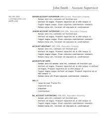 sample resume templates for download   resume sample information    sample resume  resume template download example for account supervisor with professional experience  sample resume