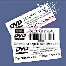 How To Label Dvds Custom Non Removable Brittle Security Seal Labels For Dvds Dvd
