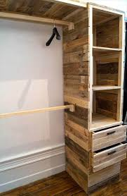 upcycled wooden pallet cupboard or closet idea