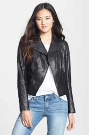 image of halogen leather moto jacket
