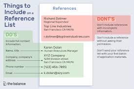 Sample Reference List For Employment Tartanedge Center