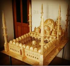 Image Drawing Scale Model With Popsicle Sticks My Modern Met Architectural Scale Model Is Popsicle Stick Art Made From 15000 Sticks