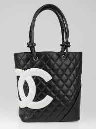 Chanel Black/White Quilted Ligne Cambon Medium Tote Bag - Yoogi's ... & Chanel Black/White Quilted Ligne Cambon Medium Tote Bag Adamdwight.com