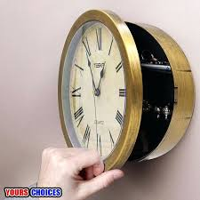 clock safe 1 of 0 available clock secret safe stash compartment wall clock safe