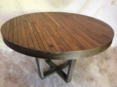 rustic round dining table. Walnut And Steel Butcher Block Style Table. $650 Before Shipping For A 30\ Rustic Round Dining Table Y