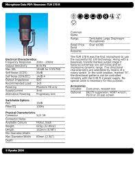 Neumann Km184 Frequency Response Chart Microphone Data Pdf Neumann Tlm 170 R Common Name