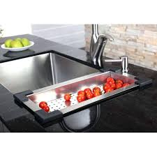 sink colanders stainless steel colander for kitchen sink cs 3 kitchens kitchen sink colander over the sink colanders