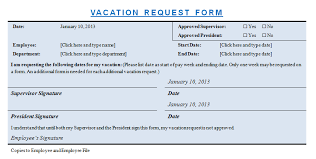 Sample Vacation Request Form Vacation Request Template Microsoft Word Templates
