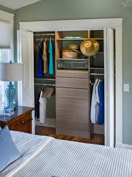 closet with open folding doors