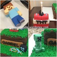Minecraft Birthday Cake Toppers Fondant Minecraft Cake Toppers En Mi