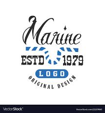 1979 Design Marine Logo Original Design Estd 1979 Retro Badge