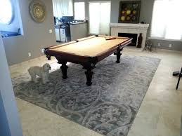 cottage pool table rug size