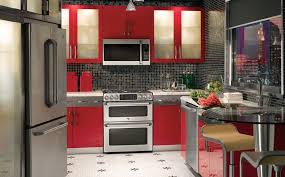 Small Red Kitchen Appliances Kitchen Cabinets Smart Kitchen Cabinet Colors Inspirations