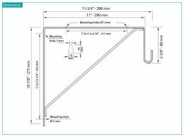 oval closet rod shelf bracket