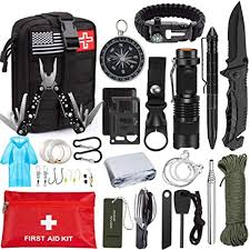 <b>Emergency Survival Kit</b> 47 in 1 Professional Survival <b>Gear</b> Tool First