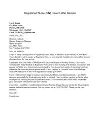 Cover Letter For A Nurse Sample Cover Letters For Nurses New Grad Nurse Cover Letter Example 17