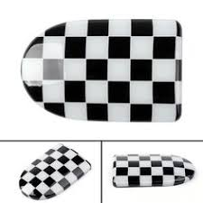 <b>2 x</b> Checke Side WING Mirror Covers MINI Cooper <b>R55 R56 R57</b> ...