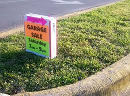 Make A For Sale Sign Make Weighted Wind Proof Garage Sale Signs Yard Sale Signs