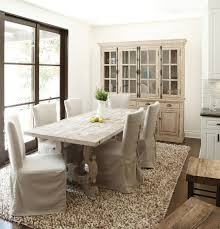 view in gallery french country style dining room with a stylish hutch and dining table in wood from