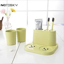 Decorative Bathroom Tray Zerosky toothbrush holder set 100 tooth brush mug storage cups with 43