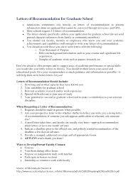 Recommendation Letter Sample For Nursing Graduate School