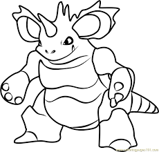 Small Picture Pokemon Coloring Pages Nidoking Coloring Pages