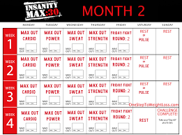 insanity max 30 schedule month 2